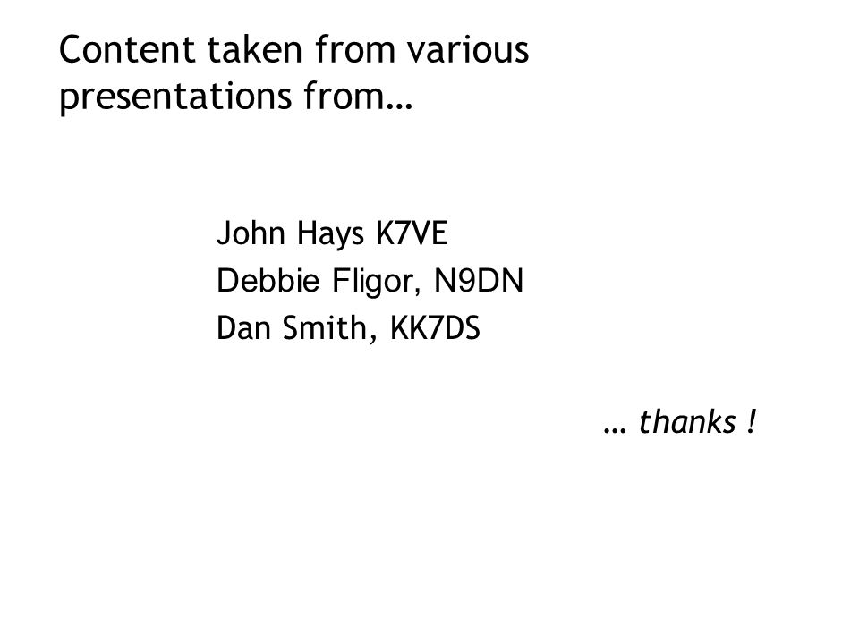 Content taken from various presentations from…