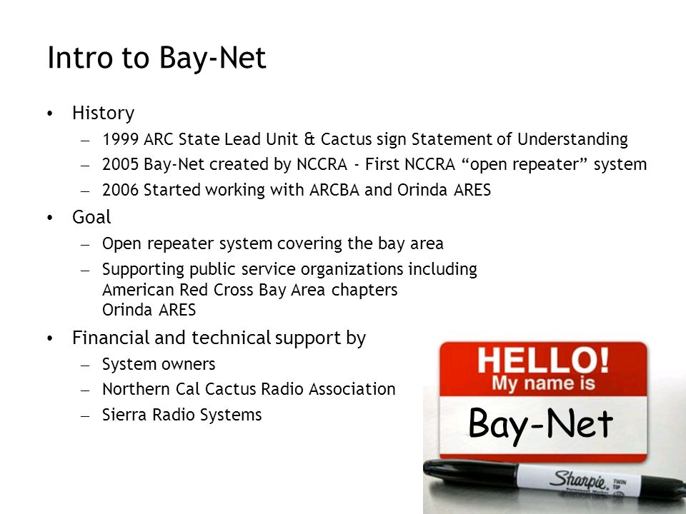 Bay-Net Intro to Bay-Net History Goal