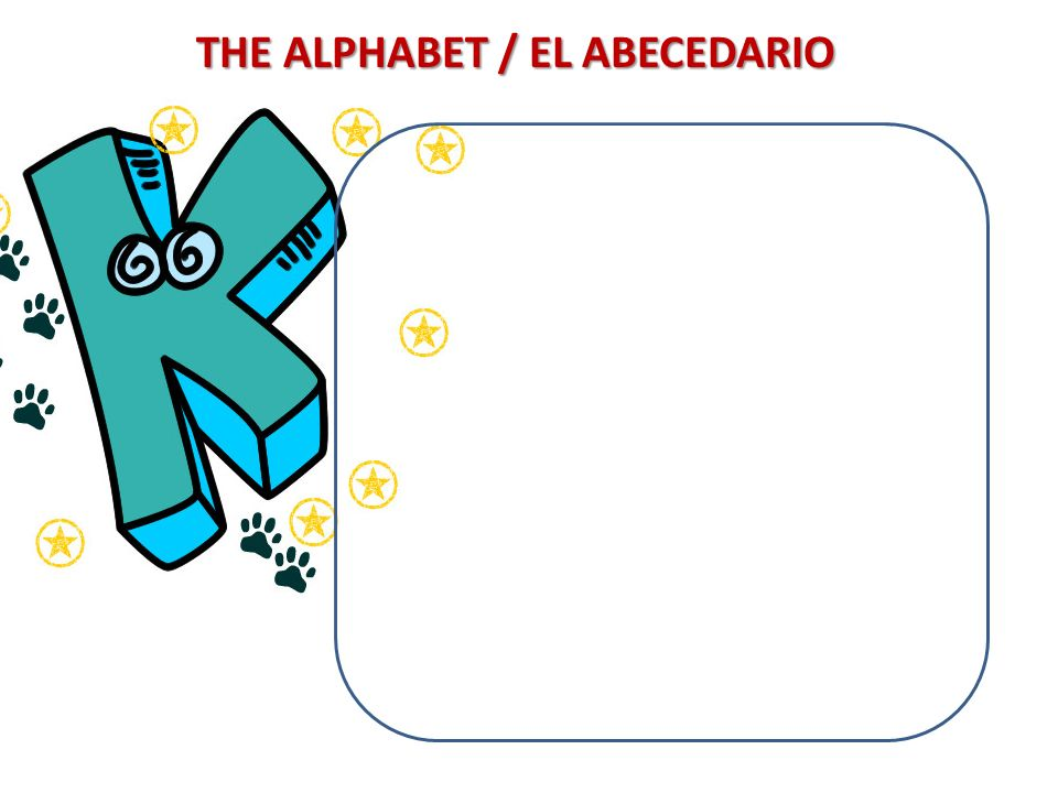 THE ALPHABET / EL ABECEDARIO