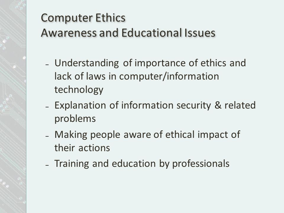 importance of ethics in education Keywords: education, ethics, being human, values, ethics education, education system 1 introduction in our present age, ethics has an important place in all areas of life ethics has also become important in education, because education is a fundamental process of human life.