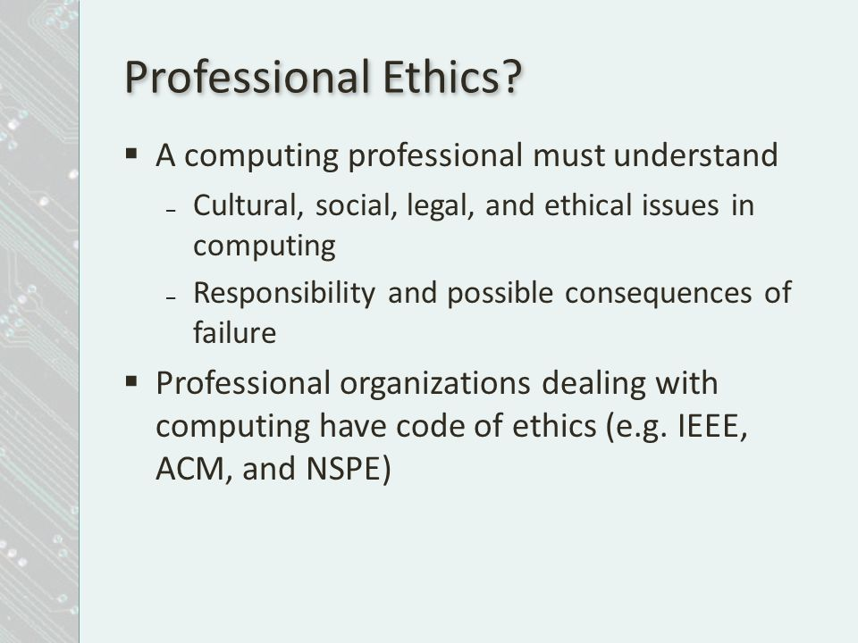 What Is the Meaning of Professional Ethics?