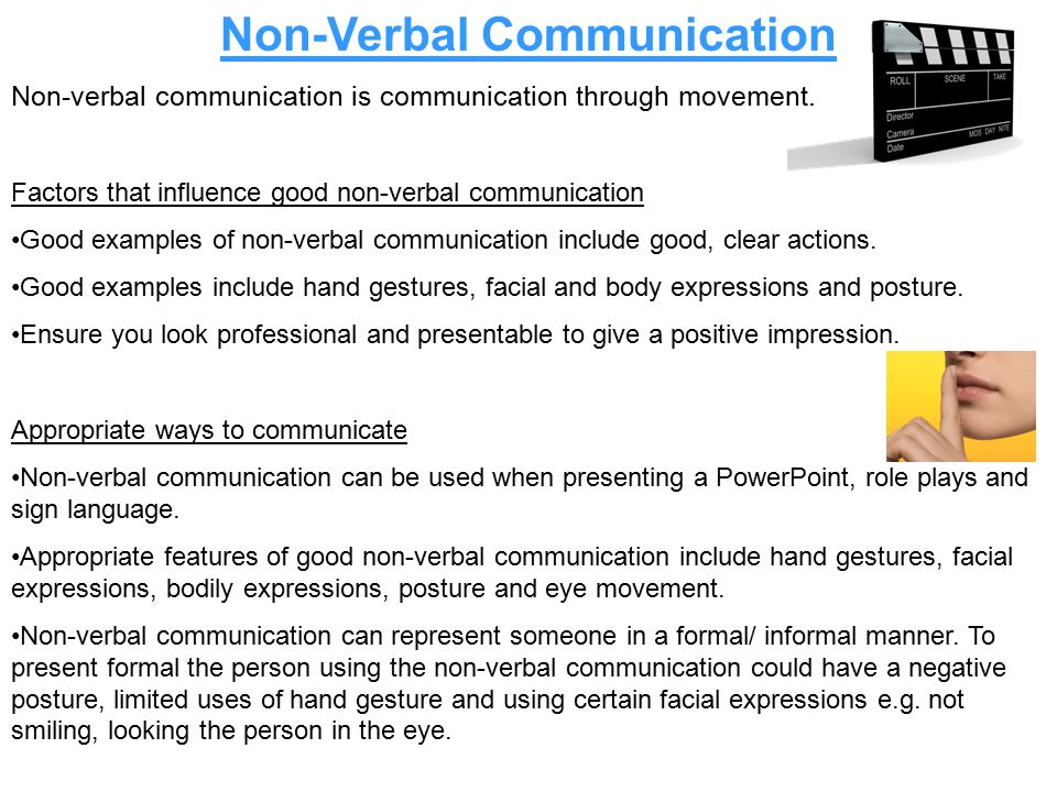 three factors that affect non verbal Factors affecting verbal communication vocabulary nurses should not use from nursing 1023 at palm beach community college factors affecting nonverbal communication.