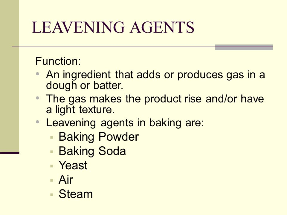 Baking Ingredients Functions