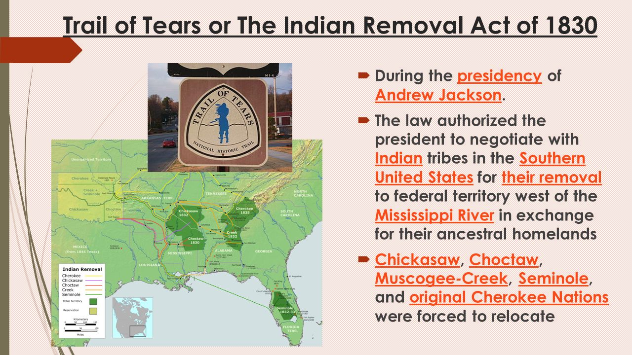 the removal act of 1830 in the united states