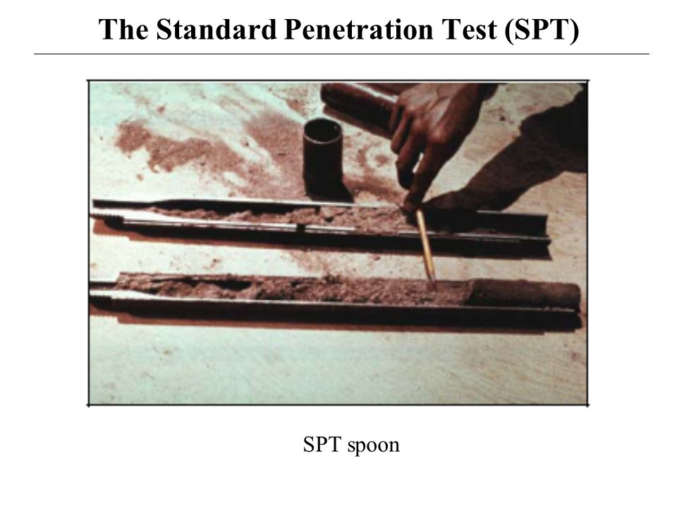 Spt spoon penetration test