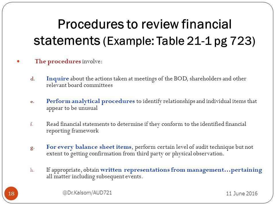 Financial statements of the Government