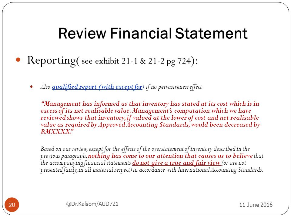 review accounting process financial statements This is the most basic accounting service, a cover page written by a cpa that accompanies a set of your financial statements having compiled financial statements shows lenders you have an association with a cpa, but doesn't offer a deep level of assurance on the accuracy of the financial statements.