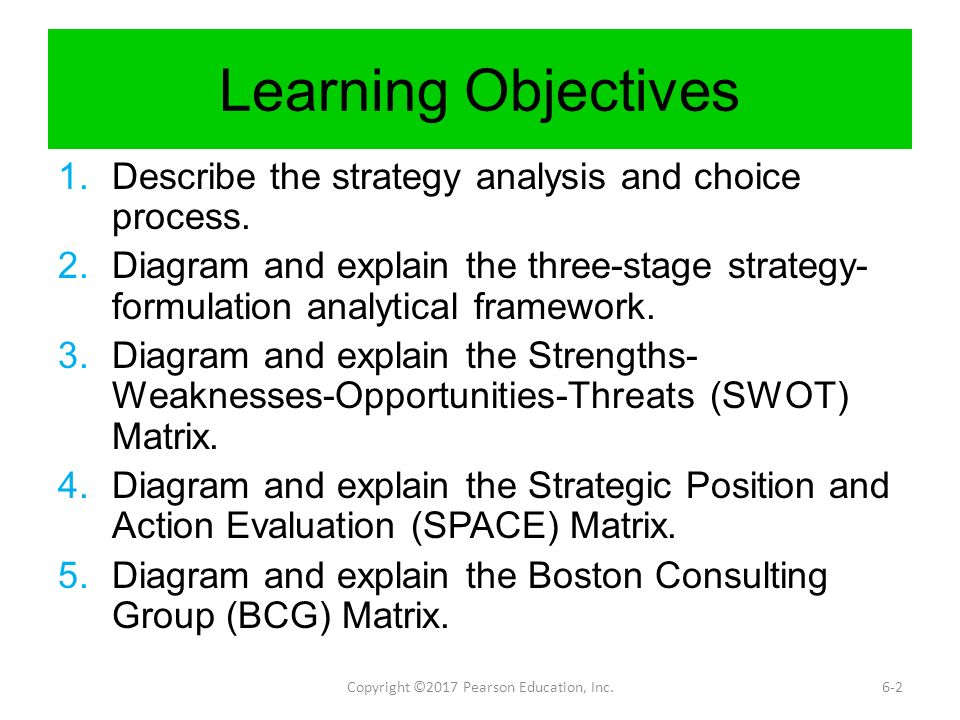 strategy analysis and choice Chapter 6 strategy analysis and choice strategic management: concepts and cases 9 th edition fred r david powerpoint slides.