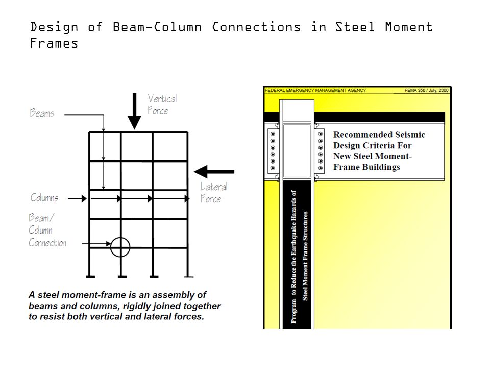 Design of Beam-Column Connections in Steel Moment Frames