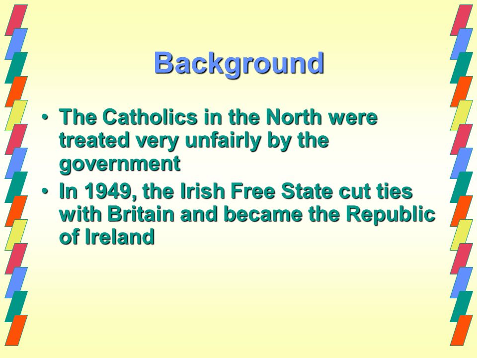 the background information about the republic of ireland History of the republic of ireland including the emergence of sinn  fein, stumbling towards a settlement.