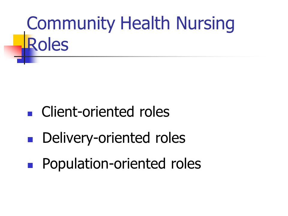 community health nursing role in the Let's recognize nurses for the roles they play within and beyond the  nurses  everywhere help improve community health in their capacity as.
