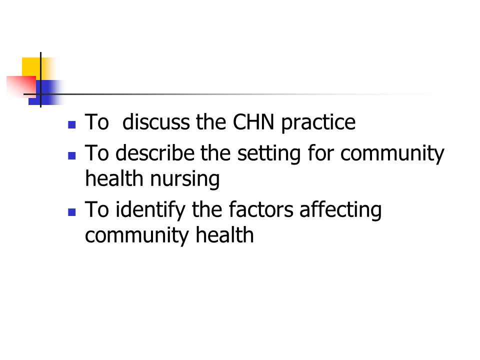 factors affecting community health essay Community health nursing is the synthesis of nursing and  factor influencing  the growth of community  factors affecting health care delivery system46 33.