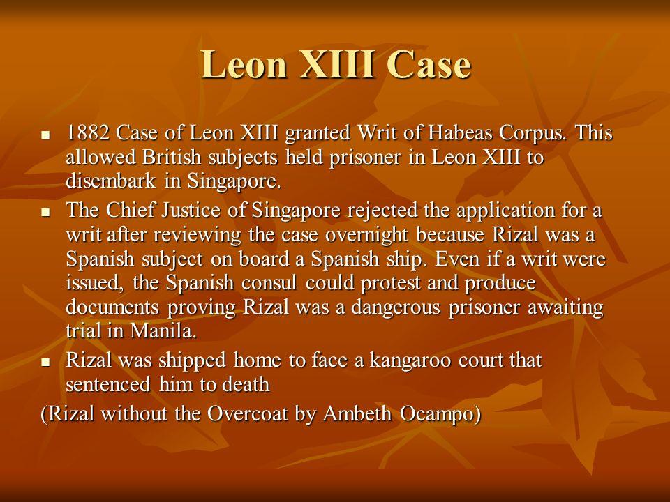 Leon XIII Case