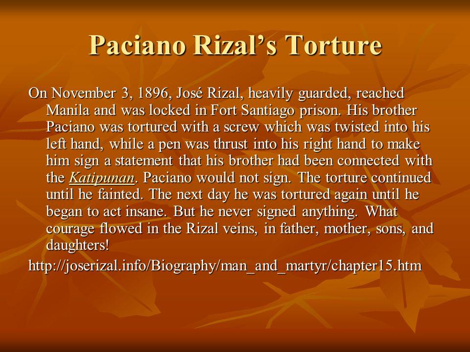 Paciano Rizal's Torture