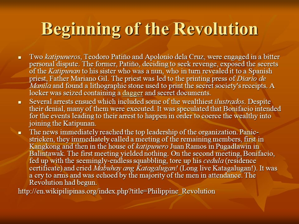 Beginning of the Revolution