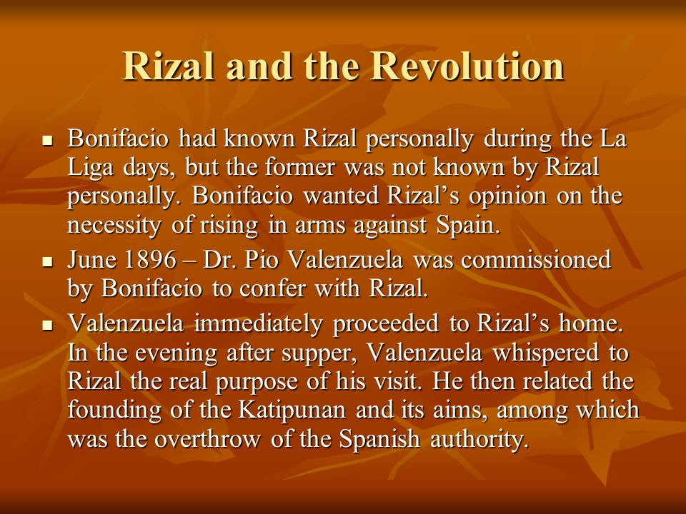 Rizal and the Revolution