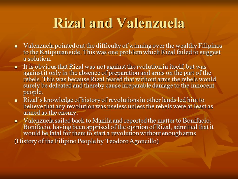 Rizal and Valenzuela