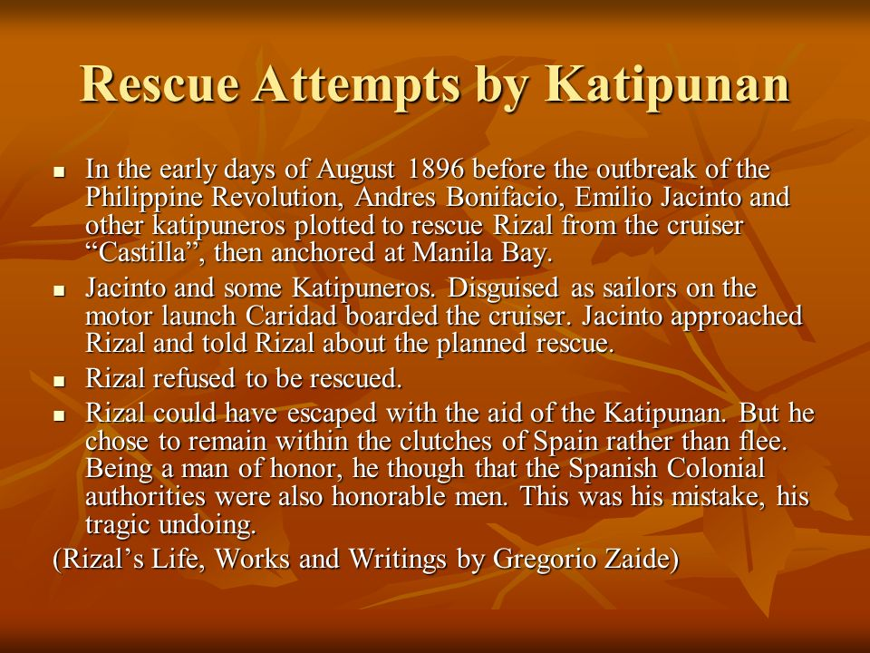 Rescue Attempts by Katipunan