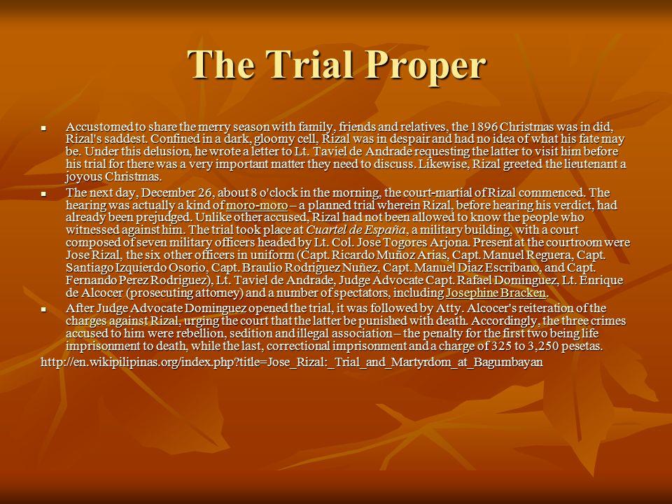 The Trial Proper