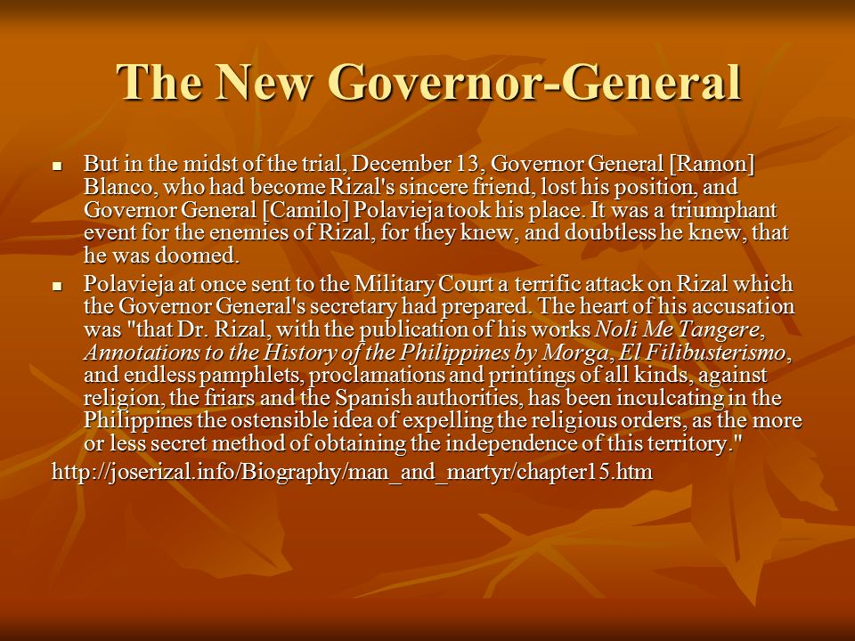 The New Governor-General