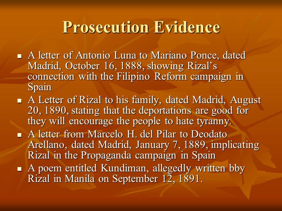 Prosecution Evidence