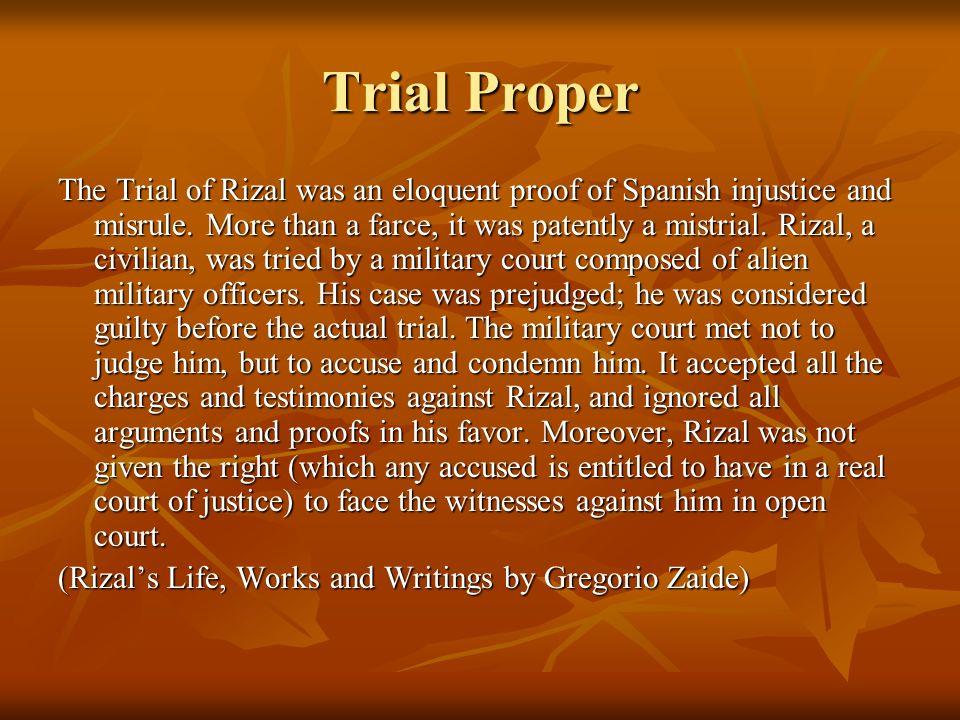 Trial Proper
