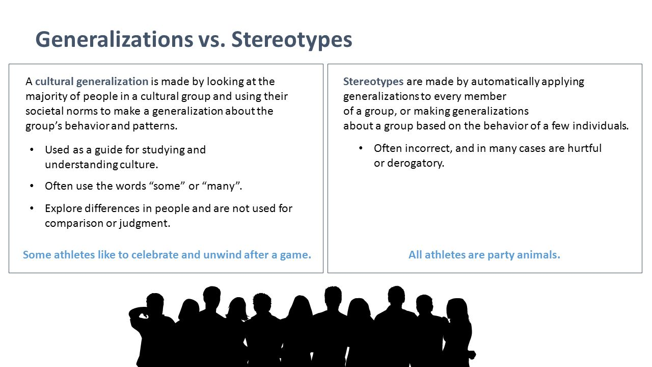 Generalizations vs. Stereotypes