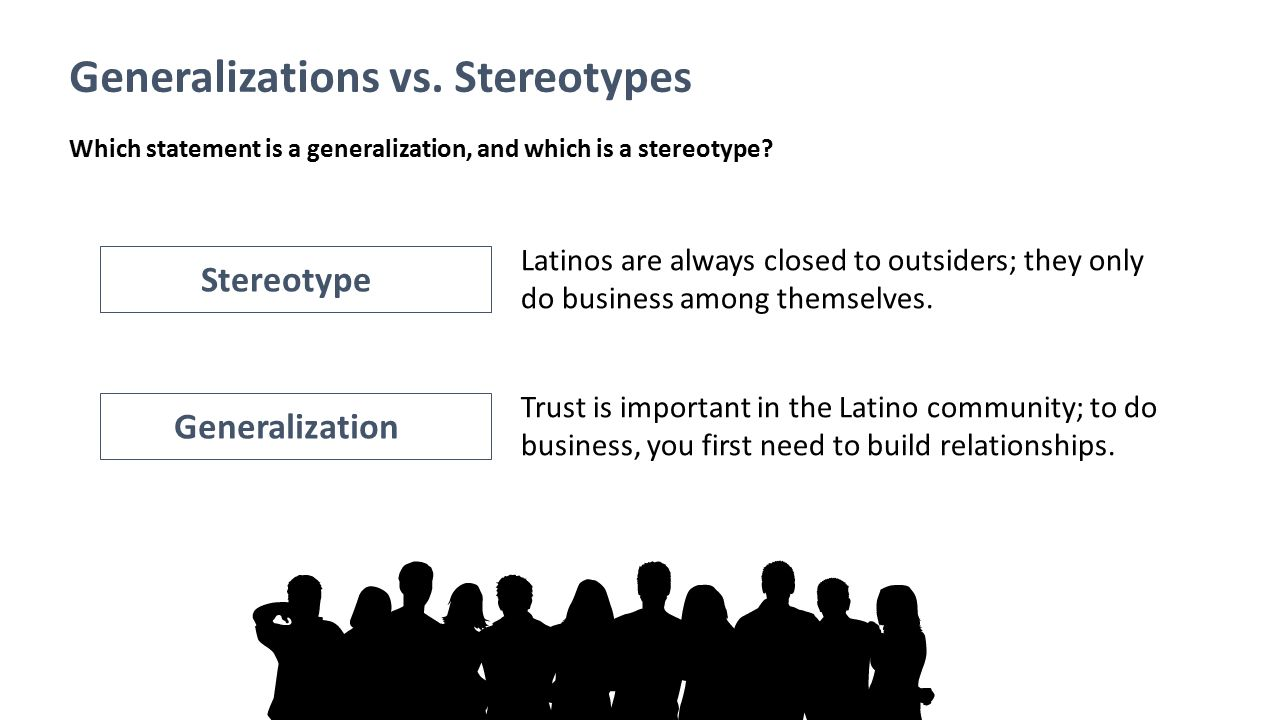Generalizations vs. Stereotypes