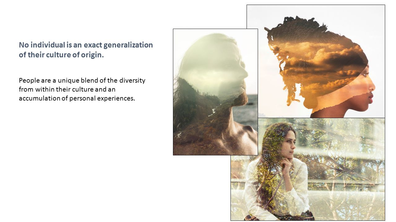 No individual is an exact generalization of their culture of origin.