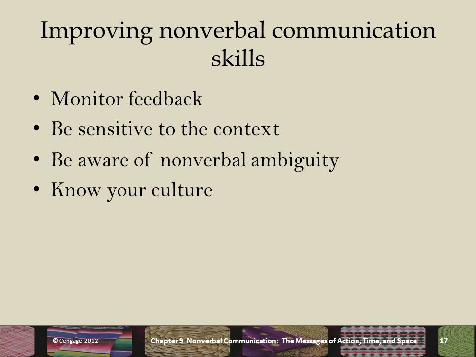 verbal and nonverbal communication between cultures Cultural differences have a significant impact on nonverbal communication as cultures differ greatly in their nonverbal interpretations and responses firstly, this essay will prove how kinesics can create barriers between people as types of nonverbal cues differ amongst cultures.