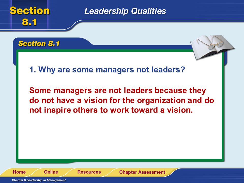 Why are some managers not leaders