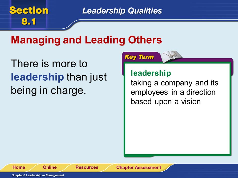 Managing and Leading Others