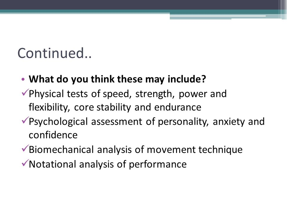 Analysis of Sports Performance - ppt video online download