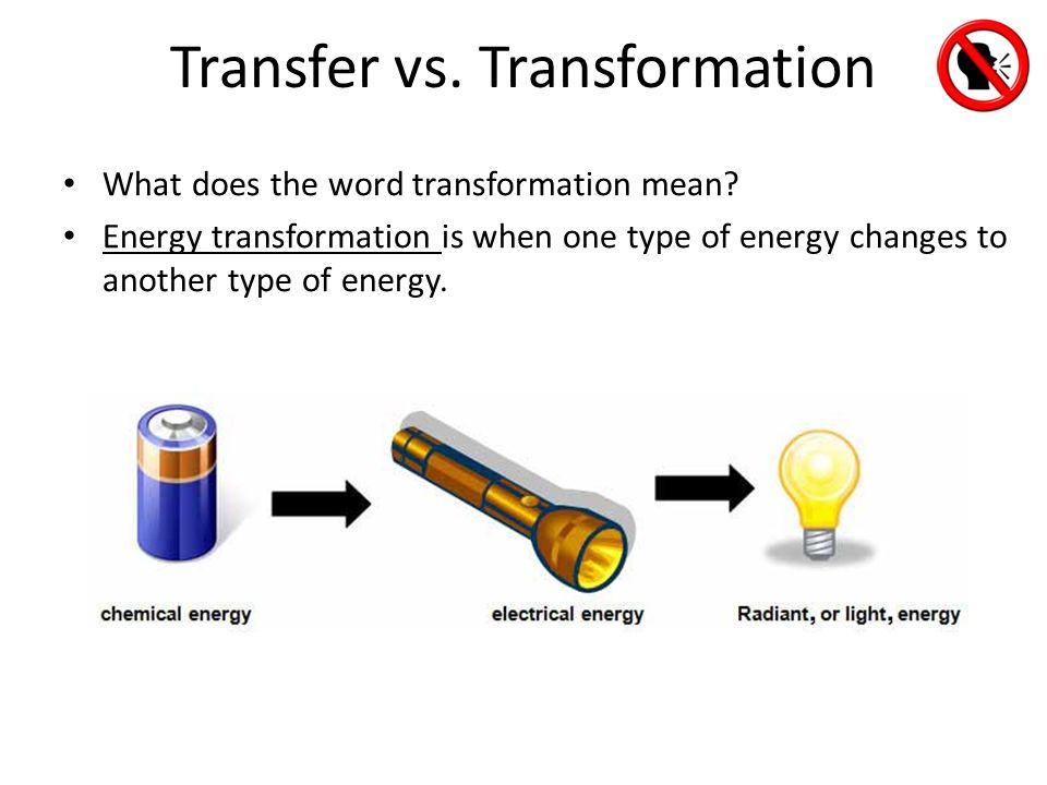 energy transformation examples Reiterate to students that energy transformations can go back and forth potential energy can become kinetic and kinetic energy can become potential energy  is the gasoline or the moving car an example of moving energy (the moving car is an example of moving energy)  have students continue with the transforming energy esheet.