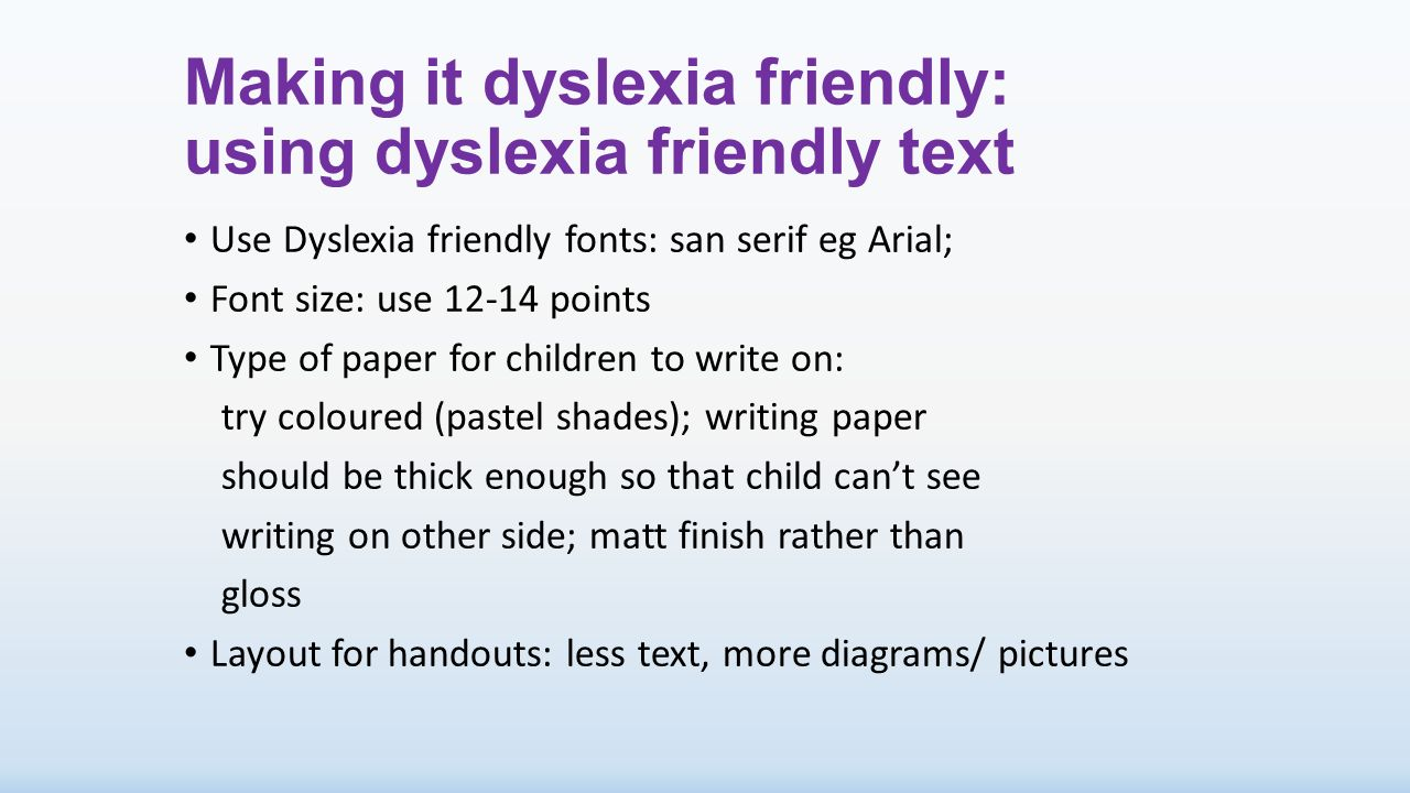 dyslexia essay A list of twenty ideas to make a classroom 'dyslexia friendly' for the struggling writer.