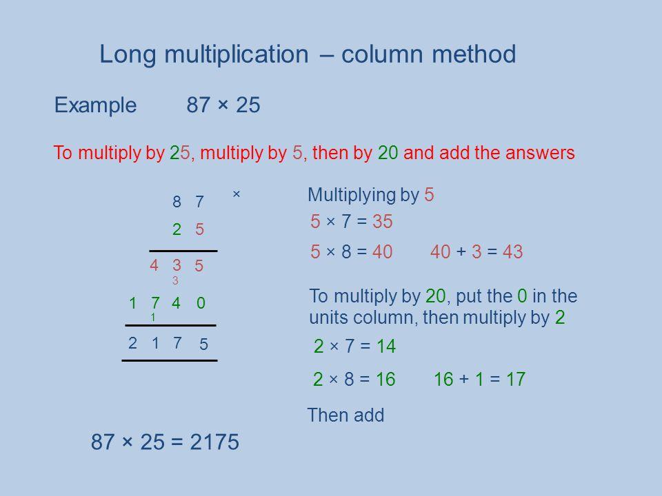 Long multiplication – column method - ppt video online download