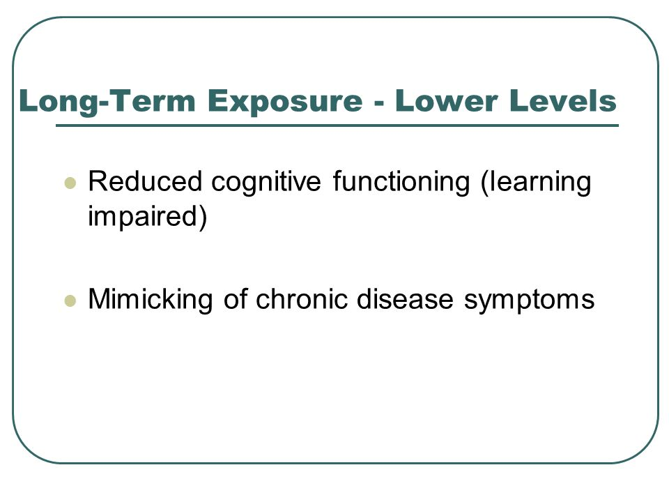 Long-Term Exposure - Lower Levels