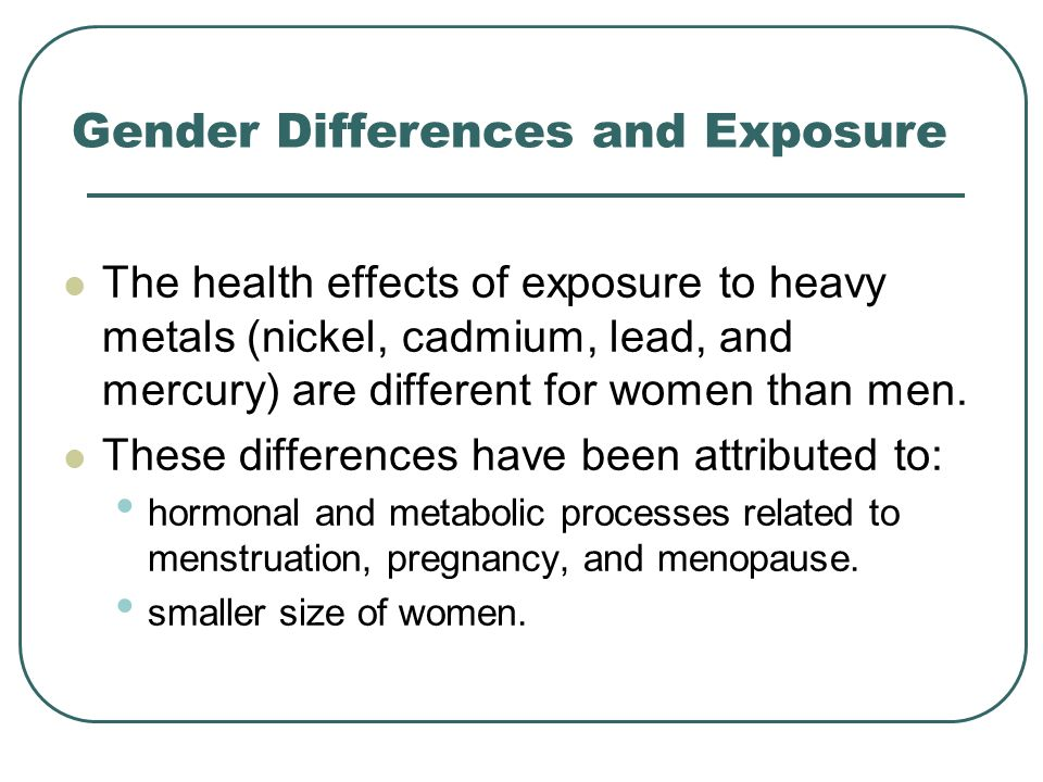 Gender Differences and Exposure