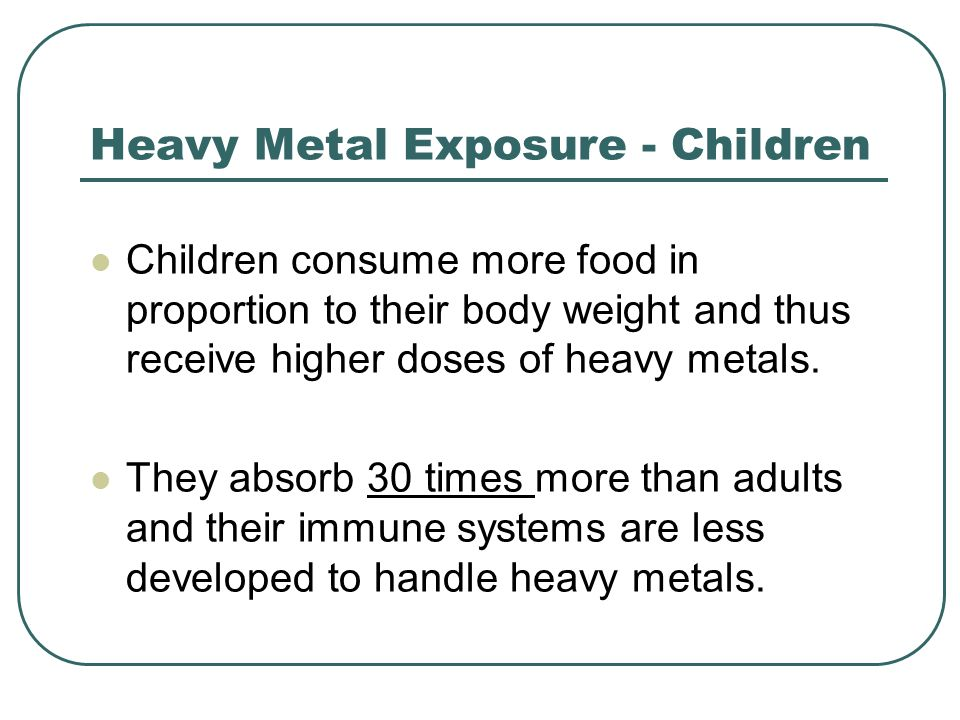 Heavy Metal Exposure - Children