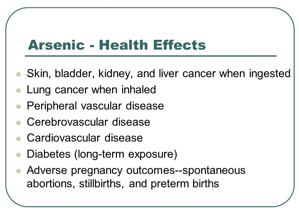 Arsenic - Health Effects