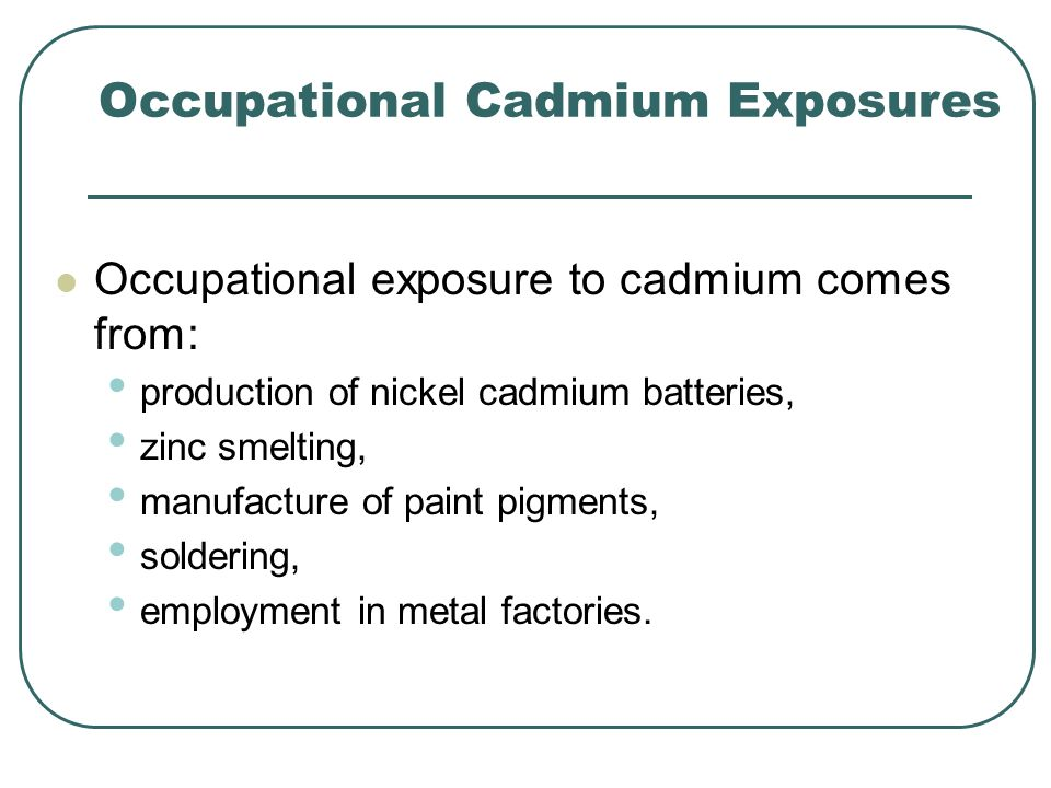 Occupational Cadmium Exposures