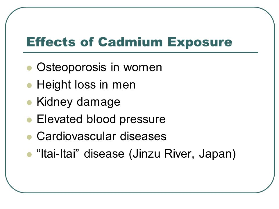 Effects of Cadmium Exposure