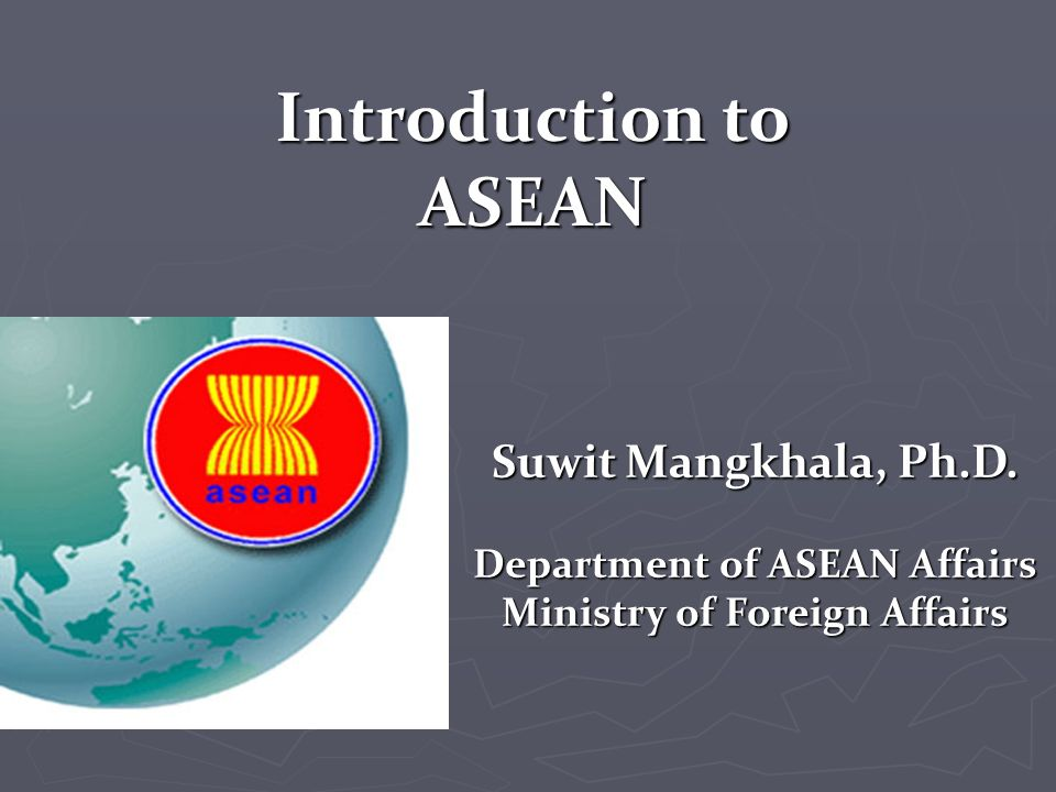 Department of asean affairs ministry of foreign affairs - Department of foreign affairs offices ...