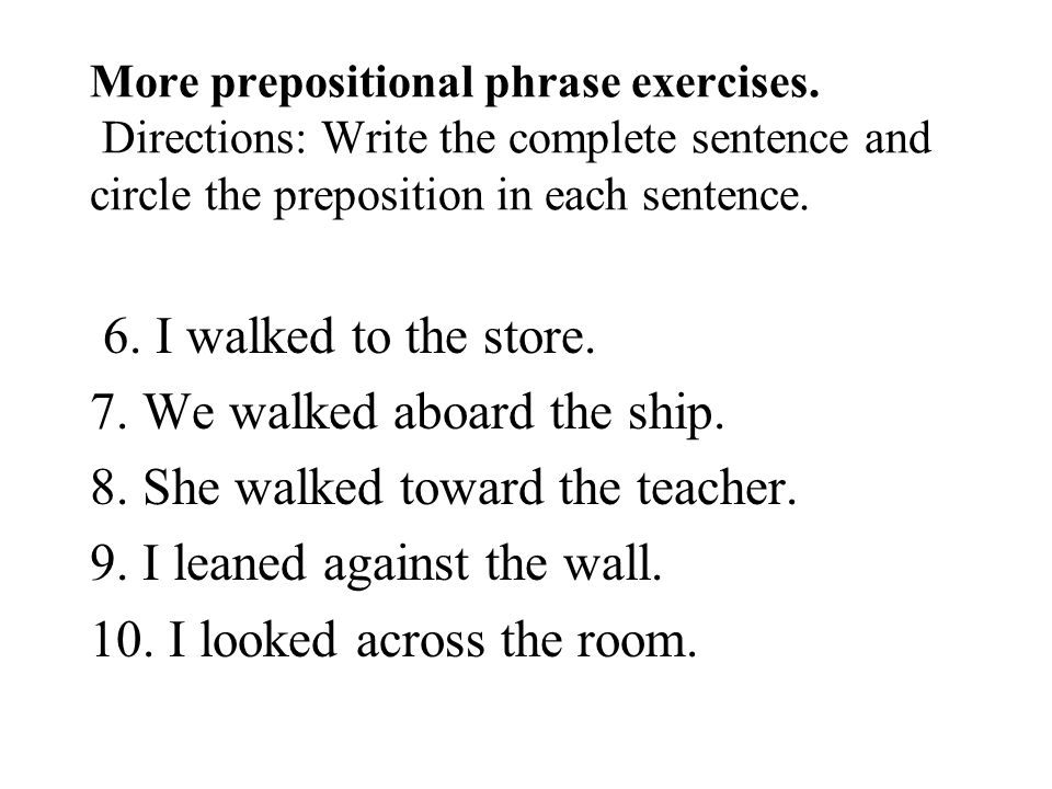 A preposition is the first word in a prepositional phrase ppt – Prepositions and Prepositional Phrases Worksheets