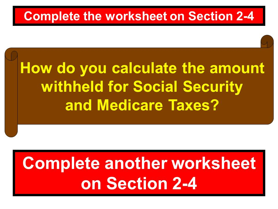 Chapter 2 Net Income page 114 ppt video online download – Social Security Worksheet