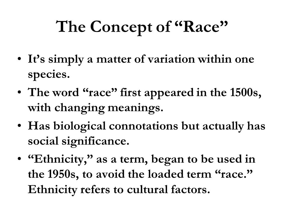 the diversity among humans based on darwins concept of variation Biological evolution  major concepts, cont diversity of life  developed independently by darwin and wallace based on earlier ideas, but key feature was the .