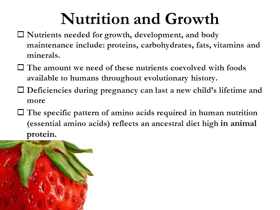 Fatty acids are needed for growth essay