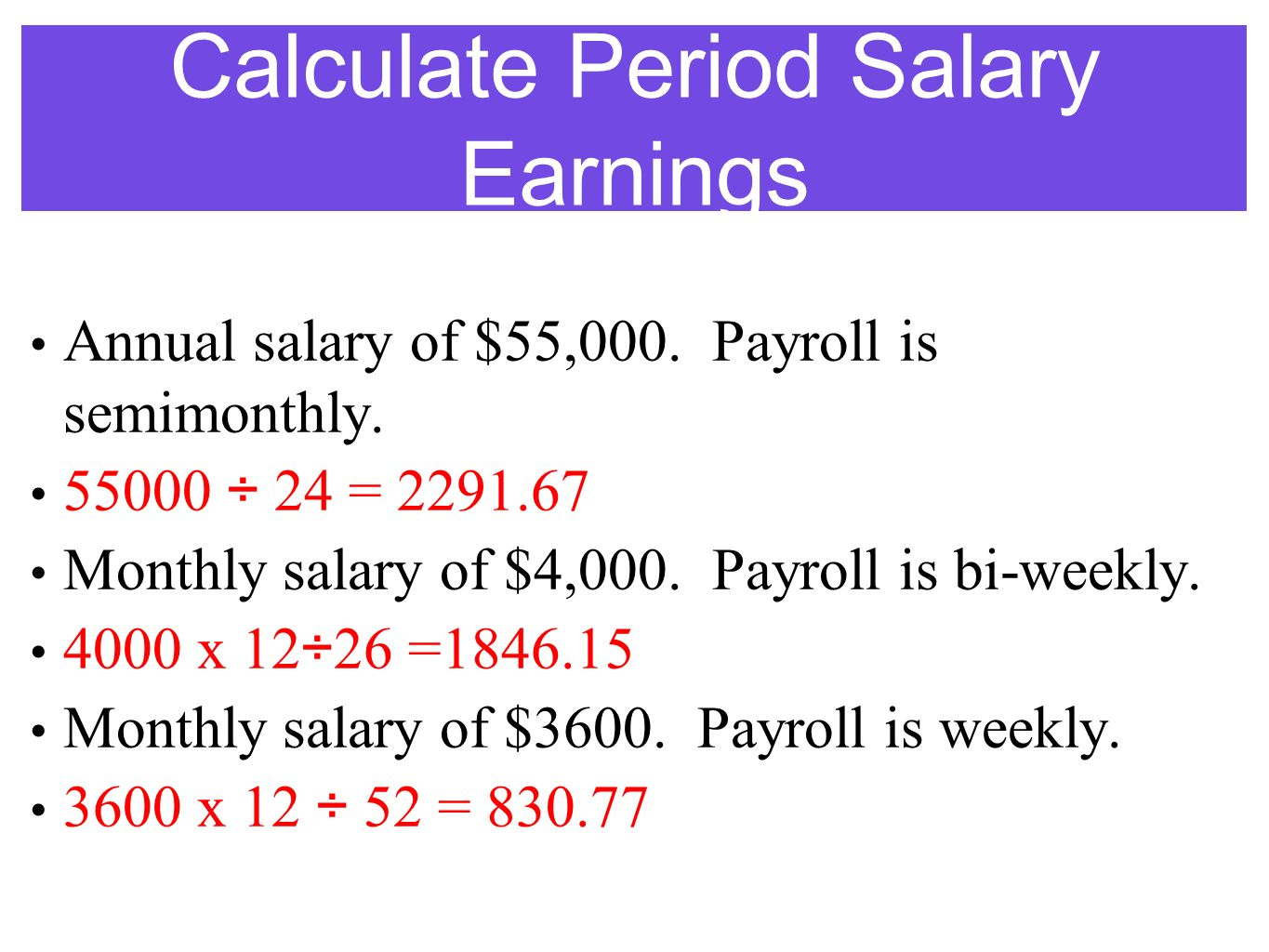 semi monthly payroll calculator
