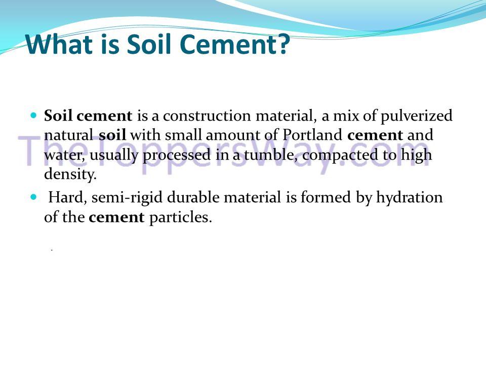 Soil Cement Ppt Video Online Download