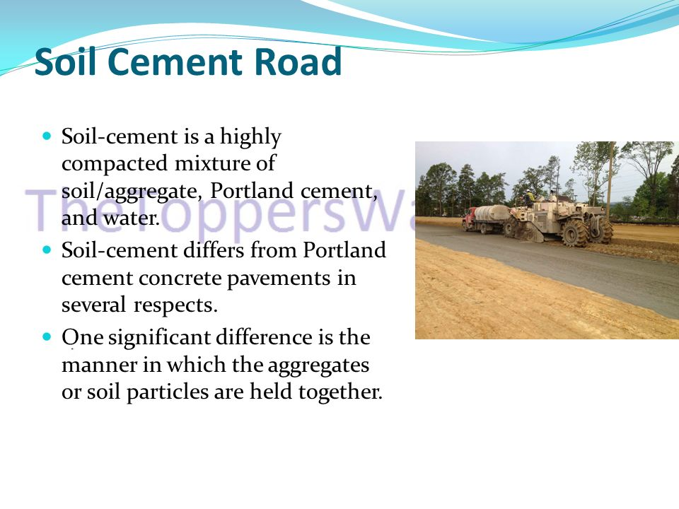 Soil cement ppt video online download for What is soil a mixture of